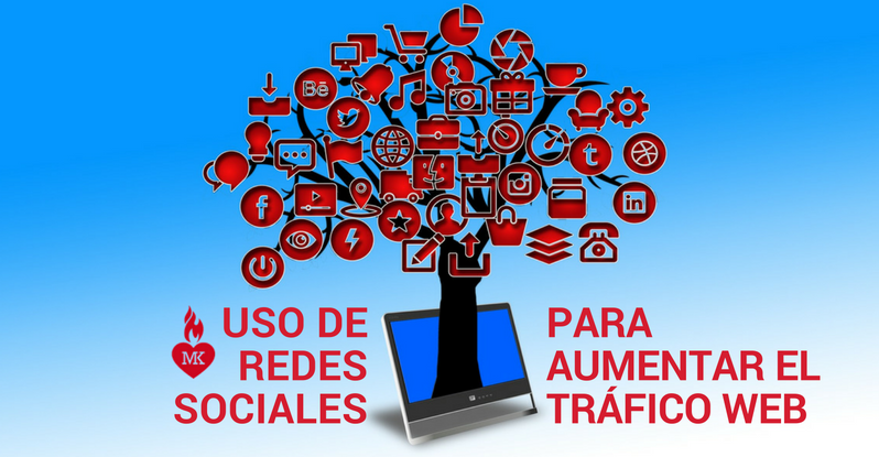 redes sociales para aumentar tráfico web